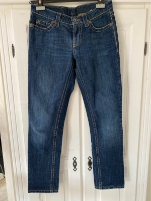 Cambio Jeans Jeansy 7/8 ciemnoniebieski