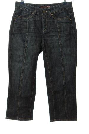 Cambio Jeans Jeansy 3/4 niebieski W stylu casual