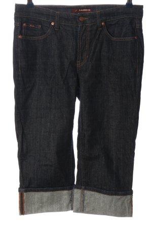 Cambio Jeans Vaquero 3/4 negro look casual
