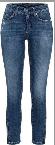 Cambio Jeans Spodnie rurki niebieski