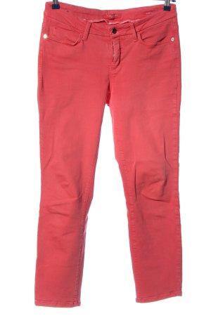 Cambio Jeans Spodnie 7/8 różowy W stylu casual