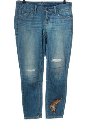 Cambio Jeans Jeansy typu boyfriend niebieski W stylu casual