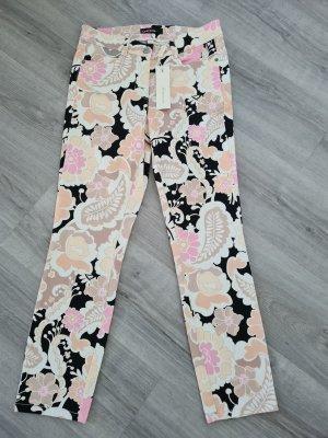 Cambio Jeansy z prostymi nogawkami czarny-jasny różowy