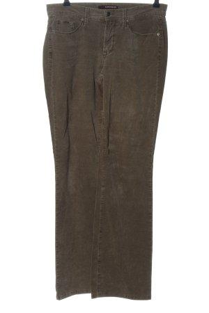 Cambio Jeans Spodnie sztruksowe brązowy Wzór w paski W stylu casual