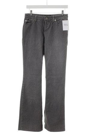 Cambio Jeans Spodnie sztruksowe szary Wzór w paski Efekt znoszenia