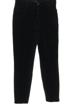 Cambio Jeans Pantalon en velours côtelé noir style décontracté