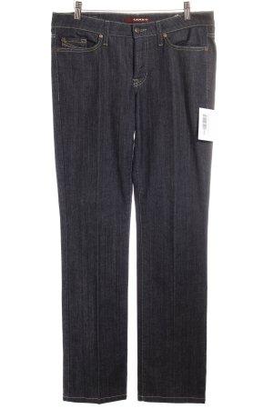 Cambio Jeans dunkelblau-sandbraun meliert Casual-Look