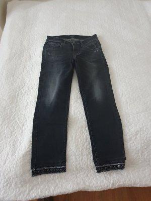 Cambio Jeans Stretch Jeans dark grey cotton