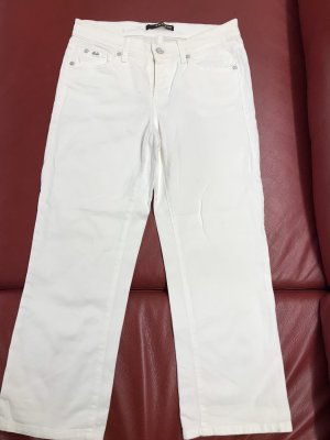 Cambio 7/8 Length Jeans white