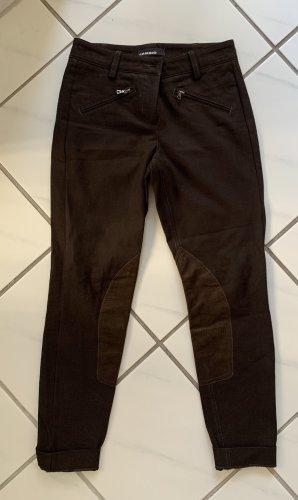 Cambio Drainpipe Trousers brown mixture fibre