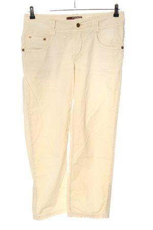 Cambio Jeans Spodnie z pięcioma kieszeniami kremowy W stylu casual