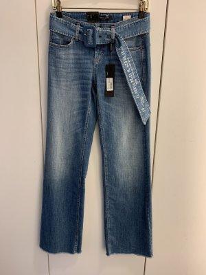 Cambio Jeans a zampa d'elefante azzurro
