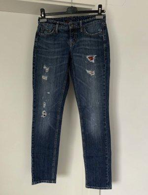 Cambio Jeans Spodnie typu boyfriend Wielokolorowy