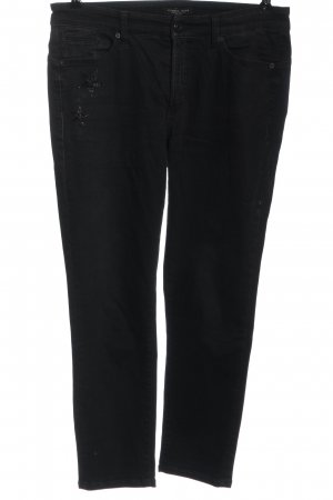 Cambio Jeans Hüftjeans schwarz abstraktes Muster Casual-Look
