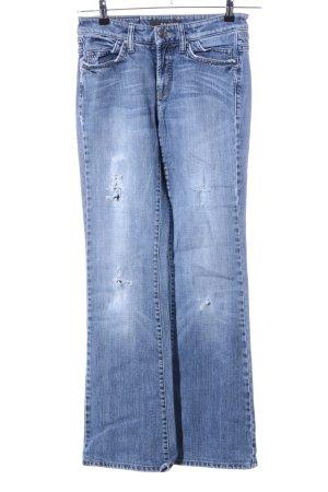 Cambio Jeans Jeansowe spodnie dzwony niebieski W stylu casual
