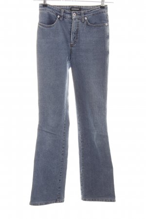 Cambio Jeans Jeansschlaghose blau Casual-Look