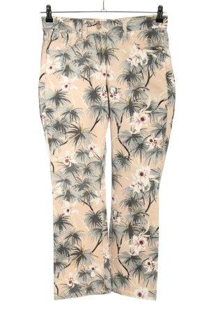 Cambio Jeans Jeans a zampa d'elefante crema-grigio chiaro motivo floreale