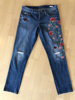 Cambio Jeans mit Blumenstickerei in Größe 38