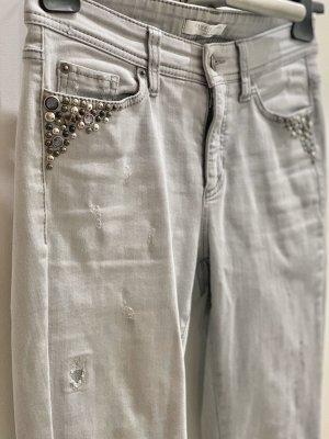 Cambio Jeans mit Strass und Nieten