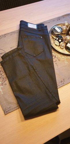 Cambio Jeans Spodnie z pięcioma kieszeniami czarny Bawełna