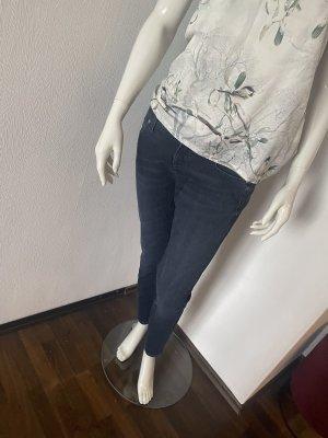 Cambio Jeans Jeansy z prostymi nogawkami ciemnoniebieski-niebieski
