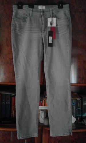 Cambio Jeans Jeansy ze stretchu szary Bawełna
