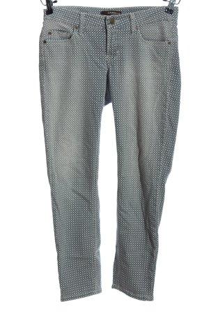 Cambio Jeans Pantalon cigarette gris clair imprimé allover style décontracté