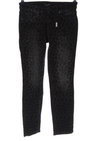 Cambio Jeans Spodnie rurki czarny-jasnoszary Na całej powierzchni