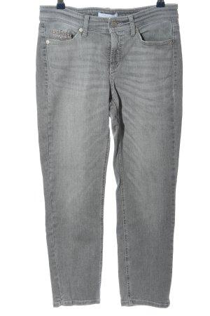 Cambio Jeans Röhrenjeans hellgrau Casual-Look