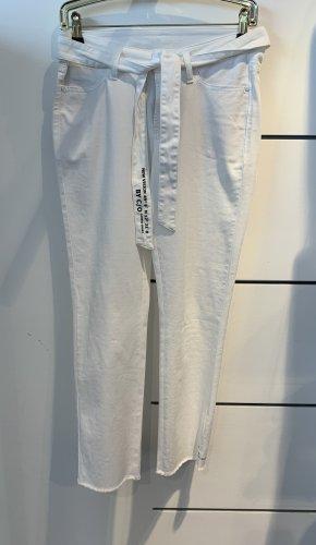 Cambio Jeans Jeansy 7/8 biały