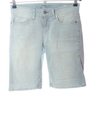Cambio Jeans Shorts blau-weiß Streifenmuster Casual-Look