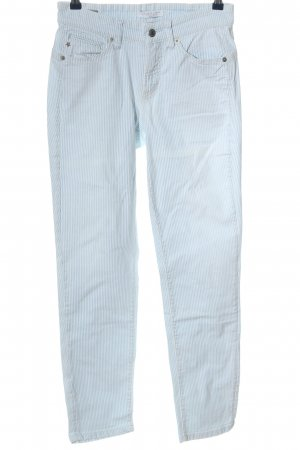 Cambio Jeans Slim Jeans weiß-blau Streifenmuster Casual-Look