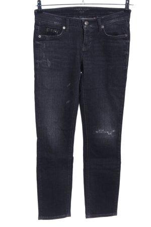 Cambio Jeans Slim Jeans schwarz Casual-Look