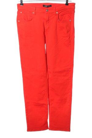 Cambio Jeans Dopasowane jeansy czerwony W stylu casual