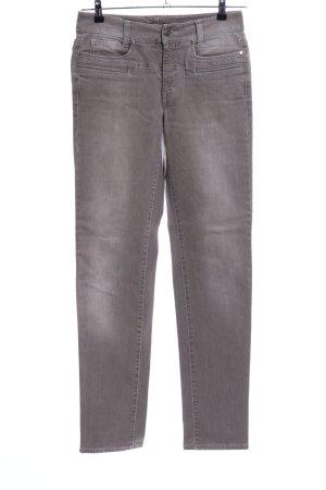 Cambio Jeans Dopasowane jeansy jasnoszary W stylu casual