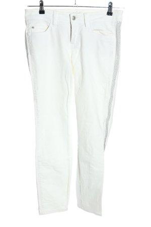 Cambio Jeans Dopasowane jeansy biały W stylu casual