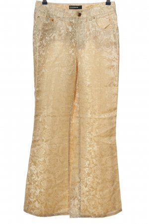 Cambio Jeans Spodnie materiałowe złoto Na całej powierzchni Elegancki