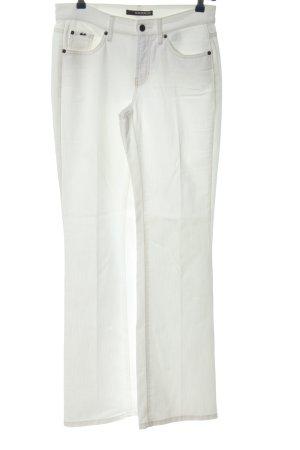 Cambio Jeans Jeansy z prostymi nogawkami biały-nude W stylu casual