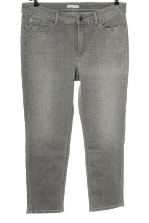 Cambio Jeans Straight-Leg Jeans hellgrau Casual-Look