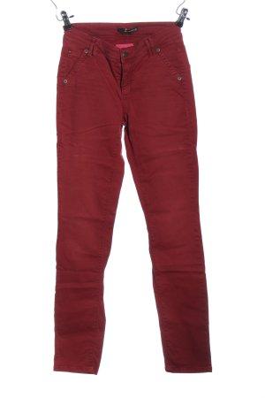 Cambio Jeans Jeansy z prostymi nogawkami czerwony W stylu casual
