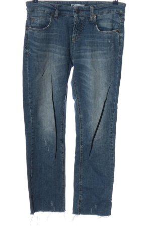 Cambio Jeans Jeansy z prostymi nogawkami niebieski W stylu casual