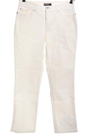 Cambio Jeans Jeansy z prostymi nogawkami kremowy W stylu casual