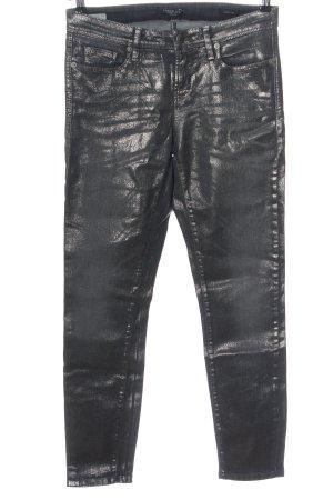 Cambio Jeans Jeansy z prostymi nogawkami srebrny-niebieski Gradient