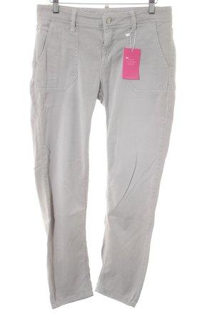 Cambio Jeans Jeansy z prostymi nogawkami beżowy Prosty styl