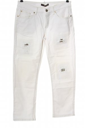 Cambio Jeans Jeansy z prostymi nogawkami biały W stylu casual