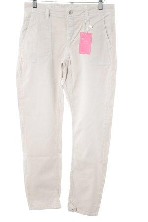 Cambio Jeans Jeansy z prostymi nogawkami kremowy-jasnobeżowy Styl klasyczny