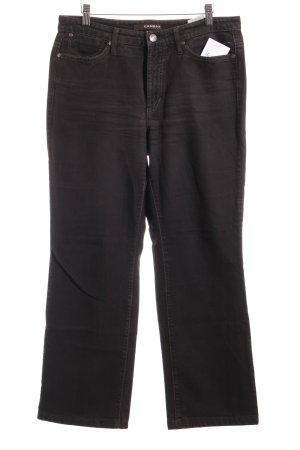 Cambio Jeans Jeansy z prostymi nogawkami ciemnobrązowy W stylu casual