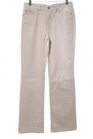 Cambio Jeans Jeansy z prostymi nogawkami w kolorze białej wełny W stylu casual