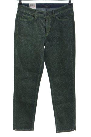 Cambio Jeans Straight-Leg Jeans grün Casual-Look