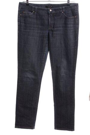 Cambio Jeans Jeansy z prostymi nogawkami czarny-ciemnoniebieski Bawełna